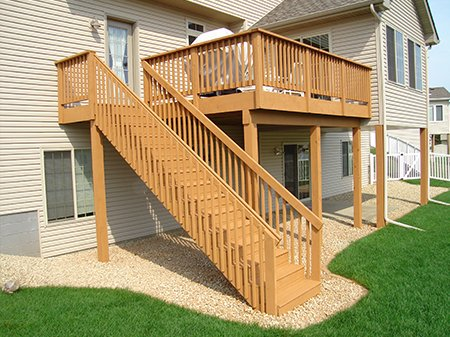 Deck after pressure washing services by SparkleWash
