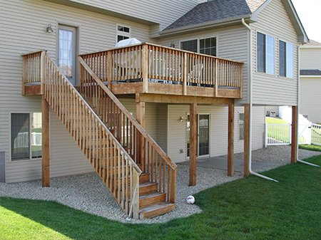 Raised Deck before