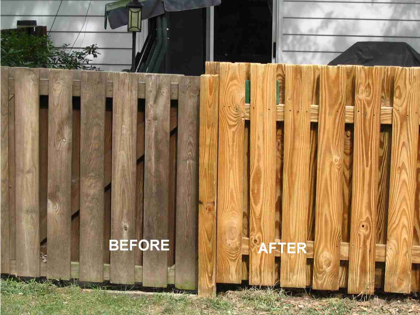 Wood Fence Before & After